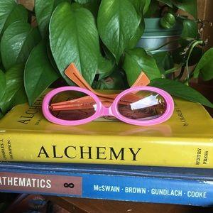 Bubble Gum Pink & Orange Small Oval Eye Sunglasses